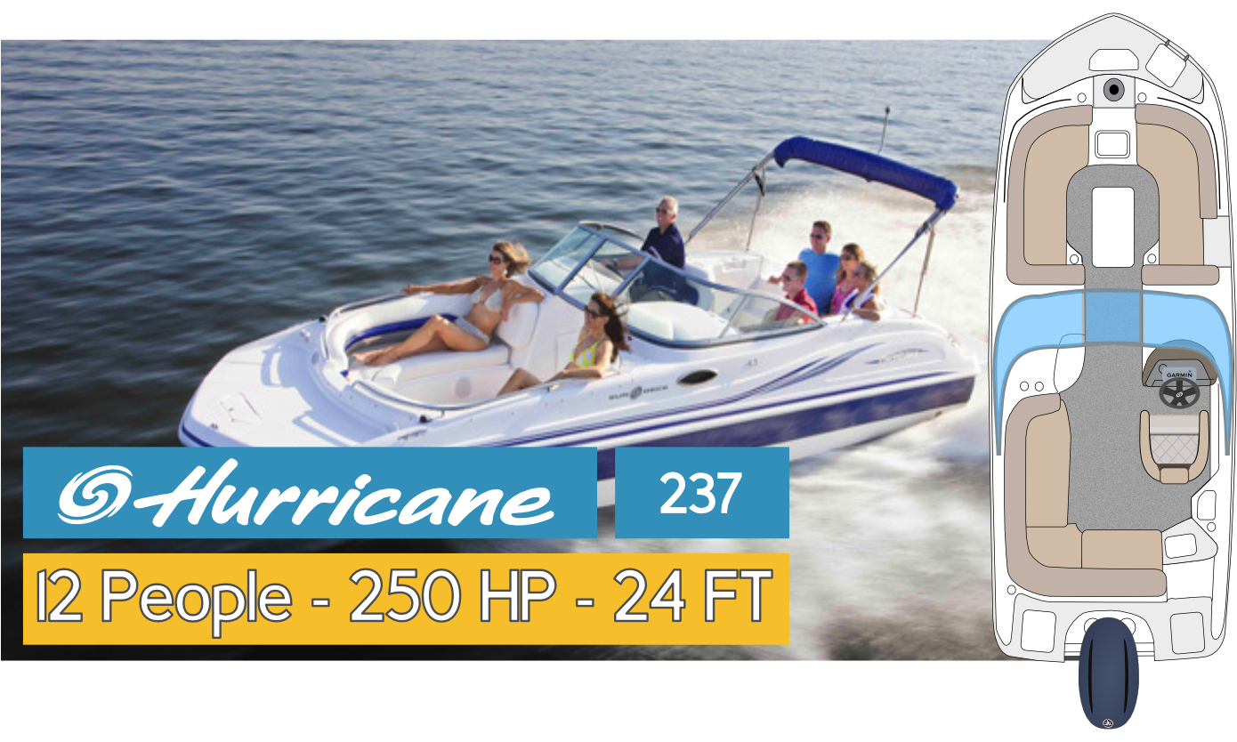 Hurricane 237 Boat Fleet